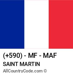 Saint Martin Country and phone Codes : +590, MF, MAF