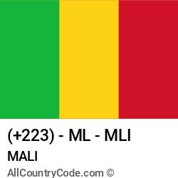 Mali Country and phone Codes : +223, ML, MLI