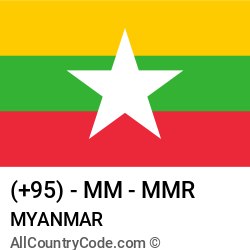 Myanmar Country and phone Codes : +95, MM, MMR