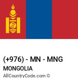 Mongolia Country and phone Codes : +976, MN, MNG