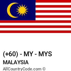 Malaysia Country and phone Codes : +60, MY, MYS