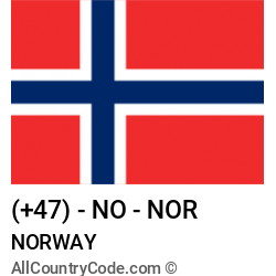 Norway Country and phone Codes : +47, NO, NOR