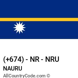 Nauru Country and phone Codes : +674, NR, NRU