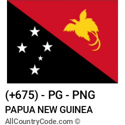Papua New Guinea Country and phone Codes : +675, PG, PNG
