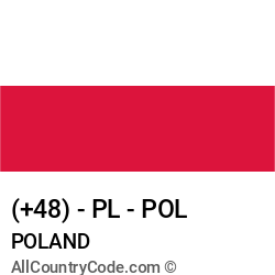 Poland Country and phone Codes : +48, PL, POL
