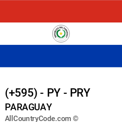 Paraguay Country and phone Codes : +595, PY, PRY