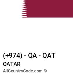 Qatar Country and phone Codes : +974, QA, QAT