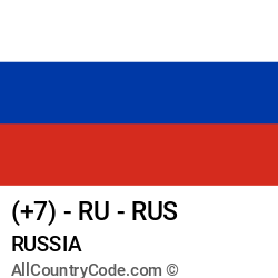 Russia Country and phone Codes : +7, RU, RUS