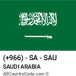 Saudi Arabia Country and phone Codes : +966, SA, SAU