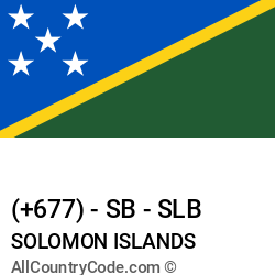 Solomon Islands Country and phone Codes : +677, SB, SLB