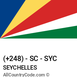 Seychelles Country and phone Codes : +248, SC, SYC