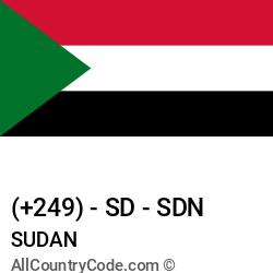 Sudan Country and phone Codes : +249, SD, SDN