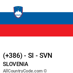 Slovenia Country and phone Codes : +386, SI, SVN