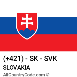 Slovakia Country and phone Codes : +421, SK, SVK
