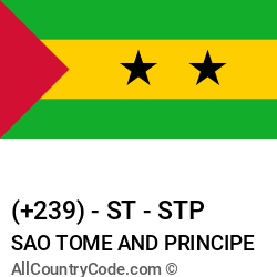 Sao Tome and Principe Country and phone Codes : +239, ST, STP
