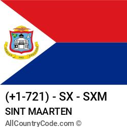 Sint Maarten Country and phone Codes : +1-721, SX, SXM