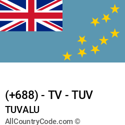 Tuvalu Country and phone Codes : +688, TV, TUV
