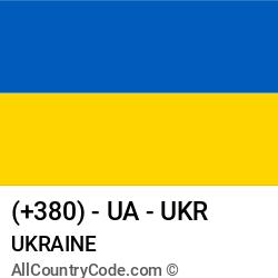Ukraine Country and phone Codes : +380, UA, UKR