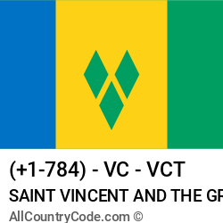 Saint Vincent and the Grenadines Country and phone Codes : +1-784, VC, VCT
