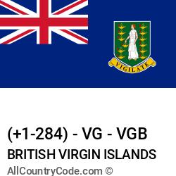 British Virgin Islands Country and phone Codes : +1-284, VG, VGB
