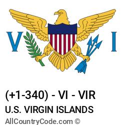 U.S. Virgin Islands Country and phone Codes : +1-340, VI, VIR