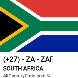 South Africa Country and phone Codes : +27, ZA, ZAF