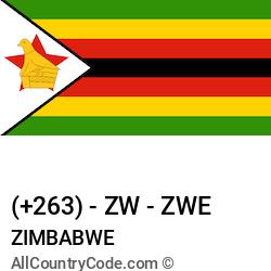 Zimbabwe Country and phone Codes : +263, ZW, ZWE