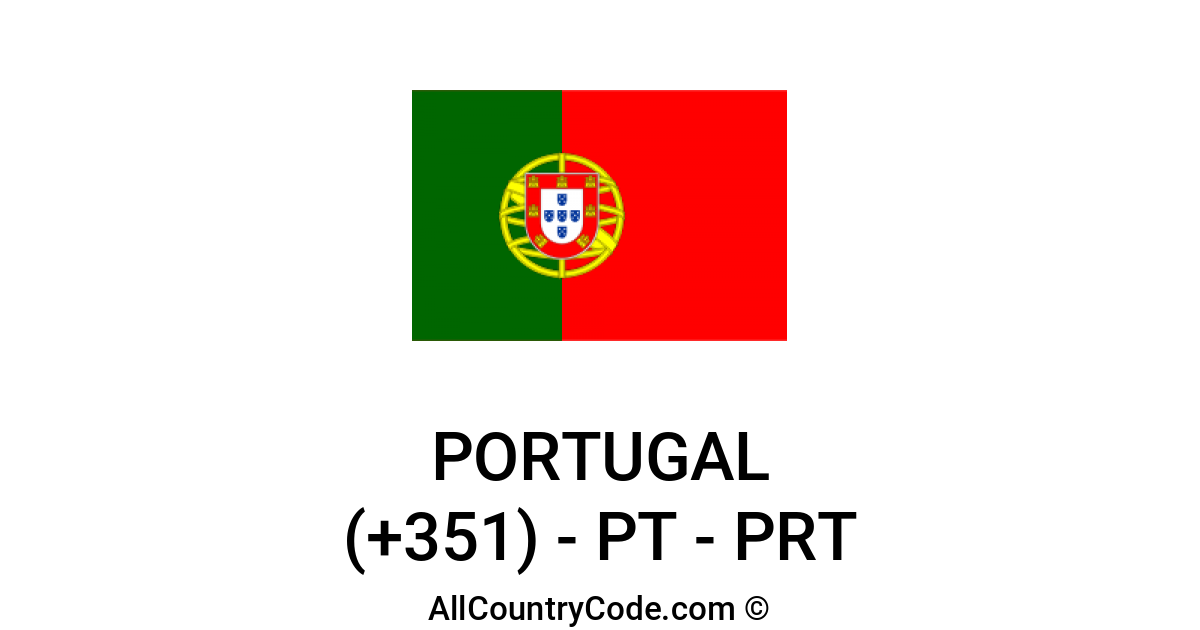 Portugal 351 Pt Country Code Prt All Country Code