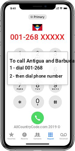 Antigua and Barbuda 1-268 Country Code AG ATG