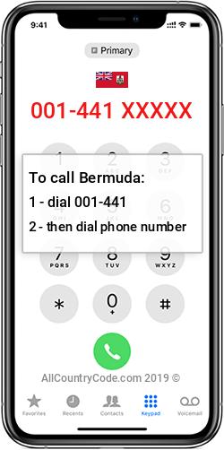 Bermuda 1-441 Country Code BM BMU