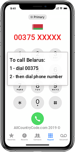 Belarus 375 Country Code BY BLR