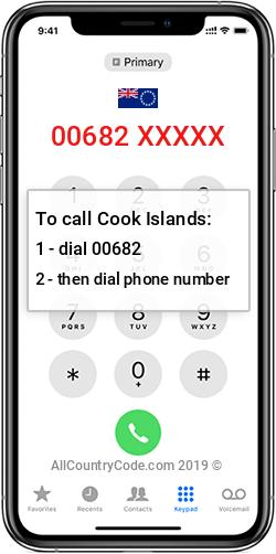 Cook Islands 682 Country Code CK COK