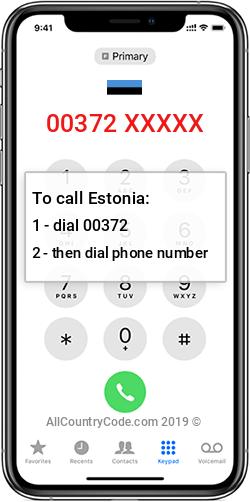 Estonia 372 Country Code EE EST