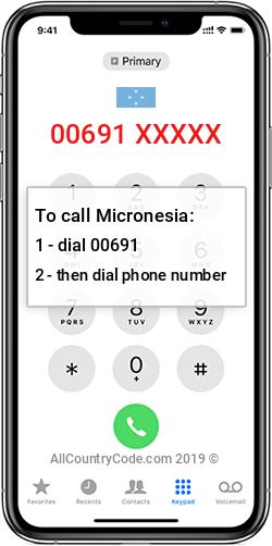 Micronesia 691 Country Code FM FSM