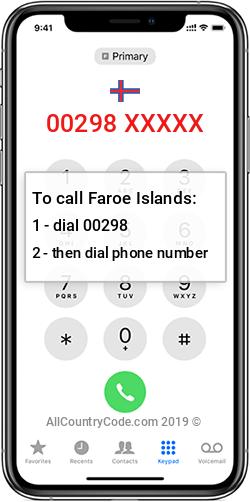 Faroe Islands 298 Country Code FO FRO