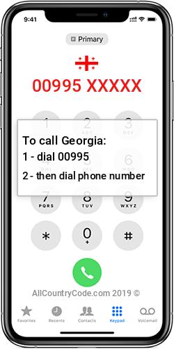 Georgia 995 Country Code GE GEO