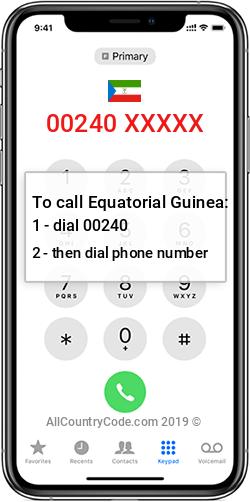 Equatorial Guinea 240 Country Code GQ GNQ