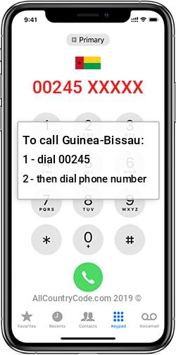 Guinea-Bissau 245 Country Code GW GNB