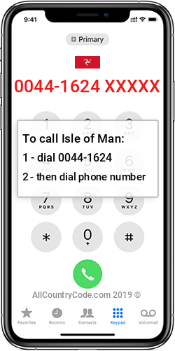 Isle of Man 44-1624 Country Code IM IMN