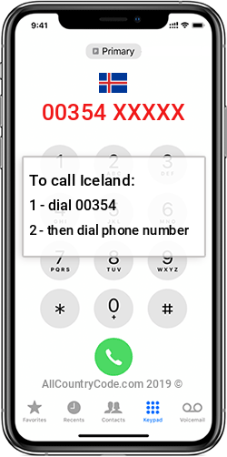 Iceland 354 Country Code IS ISL