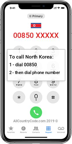 North Korea 850 Country Code KP PRK