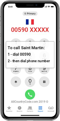 Saint Martin 590 Country Code MF MAF