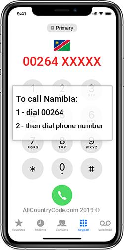 Namibia 264 Country Code NA NAM
