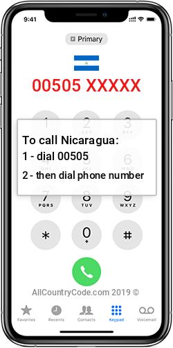 Nicaragua 505 Country Code NI NIC