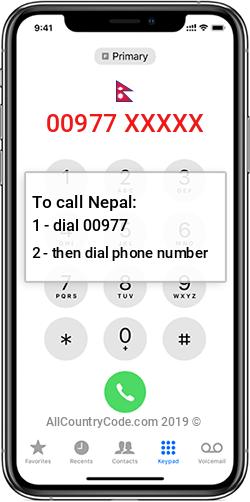 Nepal 977 Country Code NP NPL