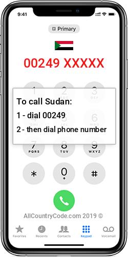 Sudan 249 Country Code SD SDN