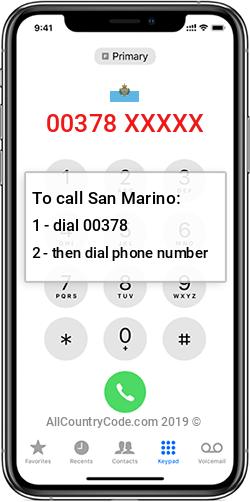 San Marino 378 Country Code SM SMR