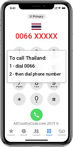Thailand 66 Country Code TH THA