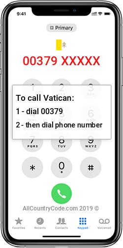 Vatican 379 Country Code VA VAT