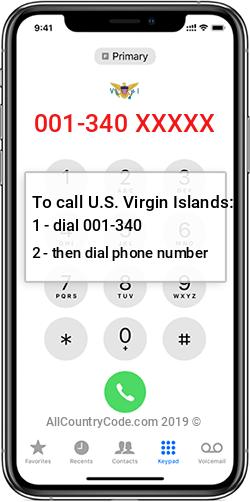 U.S. Virgin Islands 1-340 Country Code VI VIR